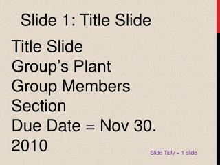 Slide 1: Title Slide