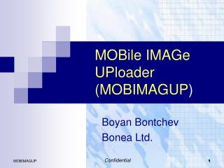 MOBile IMAGe UPloader (MOBIMAGUP )