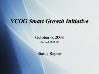 VCOG Smart Growth Initiative