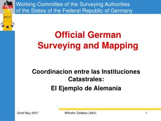 Official German  Surveying and Mapping