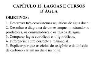 CAP TULO 12. LAGOAS E CURSOS D GUA
