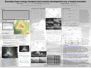 Boundary-layer energy transport and cumulus development over a heated mountain