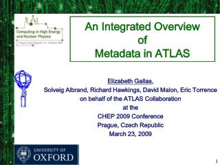 An Integrated Overview  of  Metadata in ATLAS