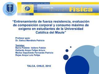 Profesor guía: Dr. Gatica Mandiola Patricio Tesistas: Barra Poblete  Isidoro Fabián