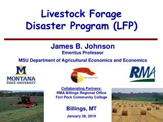 Livestock Forage  Disaster Program (LFP)