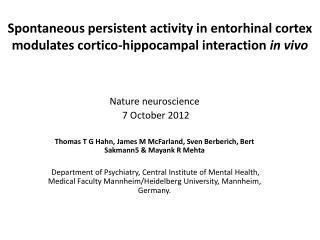 Nature neuroscience   7 October 2012