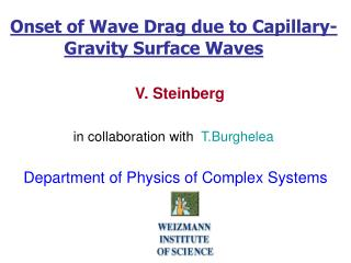 Onset of Wave Drag due to Capillary- Gravity Surface Waves