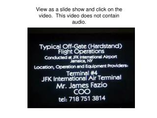 View as a slide show and click on the video.  This video does not contain audio.