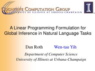 A Linear Programming Formulation for Global Inference in Natural Language Tasks
