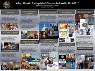 Albert Einstein Distinguished Educator Fellowship 2011-2012