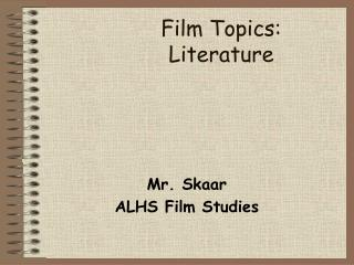 Film Topics:   Literature