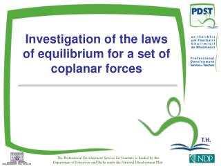 Investigation of the laws of equilibrium for a set of coplanar forces