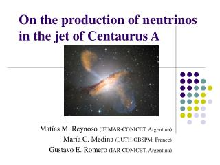 On the production of neutrinos in the jet of Centaurus A