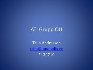 ATI  Grupp  OÜ