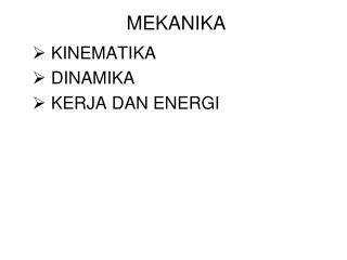 MEKANIKA