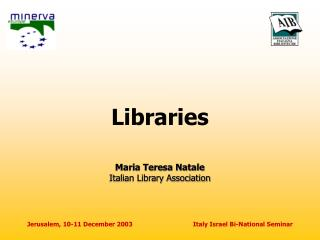 Libraries Maria Teresa Natale Italian Library Association