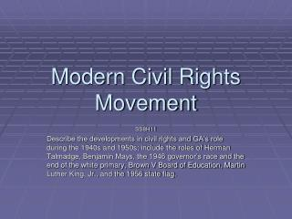 Modern Civil Rights Movement