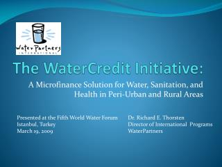 The WaterCredit Initiative: