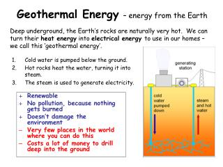 Geothermal Energy – energy from the Earth