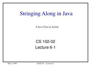 Stringing Along in Java