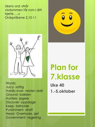 Plan for 7.klasse