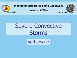 Severe Convective Storms