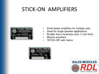 STICK-ON  AMPLIFIERS