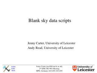 Blank sky data scripts
