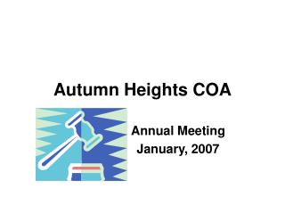 Autumn Heights COA