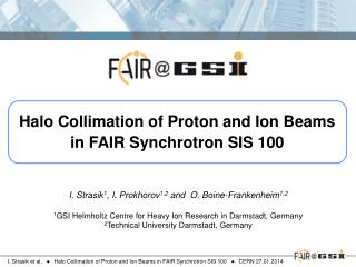 Halo Collimation of Proton and Ion Beams in FAIR Synchrotron SIS 100
