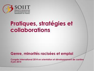 Genre, minorités  racisées  et emploi