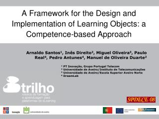 A Framework for the Design and Implementation of Learning Objects: a Competence-based Approach