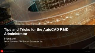 Tips and Tricks for the AutoCAD P&ID Administrator