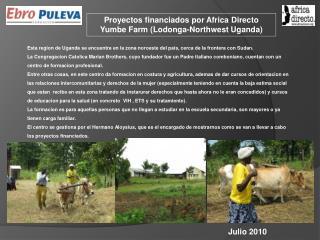 Proyectos financiados por Africa Directo  Yumbe Farm (Lodonga-Northwest Uganda)