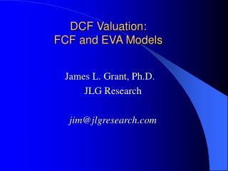 DCF Valuation: FCF and EVA Models