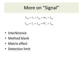 """More on """"Signal"""""""