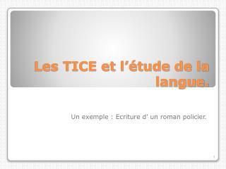 Les TICE et l'étude de la langue.
