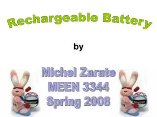 Rechargeable Batteries (Michel Zarate)
