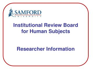 Researcher Information