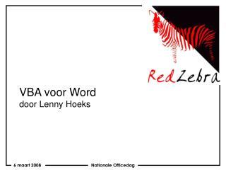 VBA voor Word door Lenny Hoeks