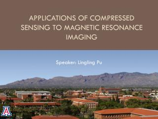 Applications of Compressed Sensing to Magnetic Resonance Imaging