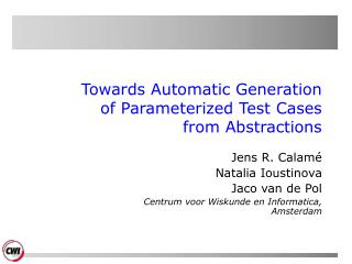 Towards Automatic Generation  of Parameterized Test Cases from Abstractions