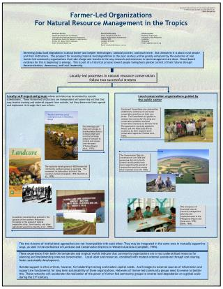 Farmer-Led Organizations For Natural Resource Management in the Tropics