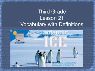 Third Grade Lesson 21 Vocabulary with Definitions