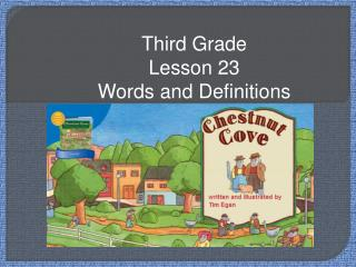 Third Grade Lesson 23 Words and Definitions