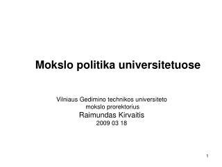 Mokslo politika universitetuose