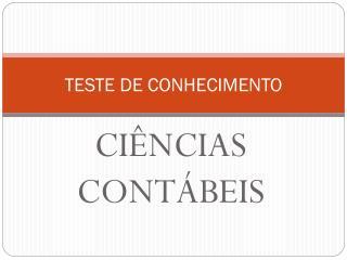TESTE DE CONHECIMENTO