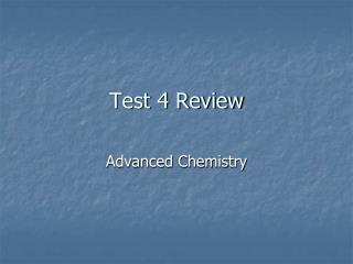 Test 4 Review