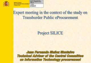 Expert meeting in the context of the study on Transborder Public eProcurement Project SILICE