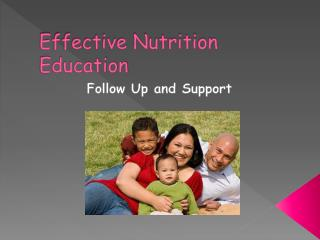 Effective Nutrition Education